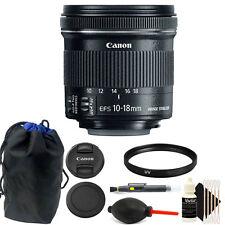 Canon EF-S 10-18mm f/4.5-5.6 IS STM Lens Bundle for Digital SLR Camera