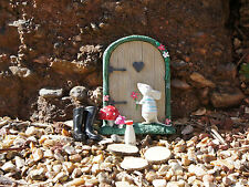 FAIRY MOUSE GARDEN SET -  MOUSE DOOR, MILK BOTTLE, BOOTS & STEPPING STONES