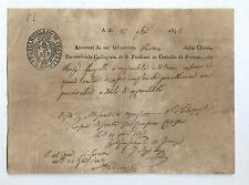 Richiesta di Stato di Miserabilità Teresa Gargiolli S. Frediano in Cestello 1842