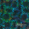 Bali Batik Fabric #884-657 Handpaints Sunflowers Quilt Shop Quality Cotton