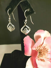 i665 LOIS HILL Sterling Silver hammered & Scroll design earrings