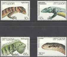 Timbres Reptiles Ste Lucie 652/5 ** (34783AR)