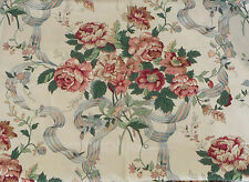 Fabric Cotton Print Waverly Liberty Legacy Large Scale Floral Bows 55W 2 1/4 Yd