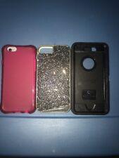 Lot Of 3pc IPhone 6/6s Otterbox Case, Casemate Case, Ballistic Red Case