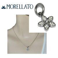 MORELLATO pendentif charm drop en acier inoxydable fleur cristal bijou