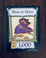 D&D, Dungeon! Official(1000 Sack of Gold)Level 4 Extra/Replacement Treasure Card