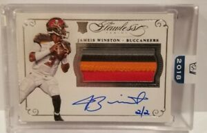 2018 Honors of a 2015 Flawless Jameis Winston RPA Auto Patch Rc 2/2 #RPA-JW