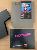 Excitebike Nes Nintendo Cartridge 100% Authentic Tested Working w/ Manual