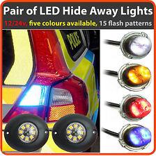 12v 24v LED intermitente esconderse Luces, recuperación de Barra de luz estroboscópica baliza de ámbar