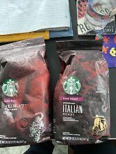 2 Starbucks 1 Sumatra Dark Coffee, & Italian Roast