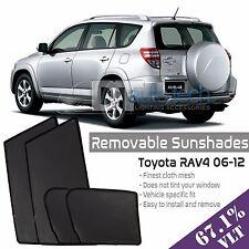 Custom Fit Mesh Sun Block Visor UV Protection 4-Piece 2006-2012 RAV4