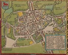 Map of Oxford 1605 England John Speed, Reprint 20x16 Inch