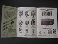 AUTOMOBILISTEN WERBE FALTBLATT 1920/30er*AUTO ERSATZTEILE*ZUBEHÖR*TOLLE PRODUKTE