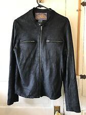 True Religion Goat Suede Leather Jacket S/P Excellent