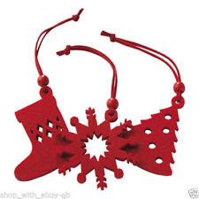 Décorations de sapin de Noël flocons de neige rouge sans marque