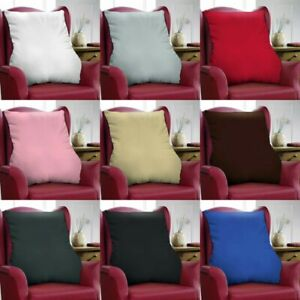 Lumbar Back Support Velour Polycotton Cushion Comfort Armchair Disability Sales