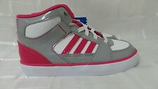 Adidas High Top Girls Basketball Shoes White HOT Pink G98537 Size 10K  117E