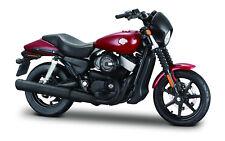Harley-Davidson 2015 Street 750 Rojo Oscuro Escala 1:18 Von Maisto
