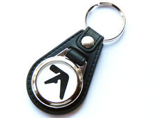 More details for aphex twin black design techno dance music quality leather and chrome keyring