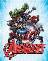 Marvel Super Heroes The Avengers Retro Tin Metal Sign 13 x 16in