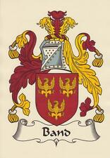 ENGLISH HERALDIC COAT OF ARMS A4 PARCHMENT PAPER PRINT FOR YOUR NAME.