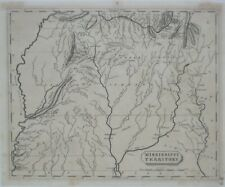 Original 1804 Map MISSISSIPPI TERRITORY Choctaw Chickasaw Creek Indian Paths