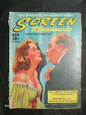 Vintage Movie Magazine - Screen Romances 12/1939 Greta Garbo Melvyn Douglas
