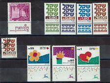 *NL*2240.Israël. Mi.Nr.527,834,841,841Ph-2str.(gest.)861Ph-re,879,1164-1166.Pfr.