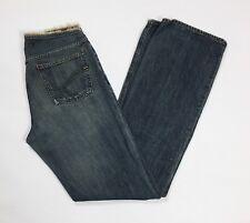 Gas jeans donna usato straight slim vintage denim w29 tg 42 43 boyfriend T3186
