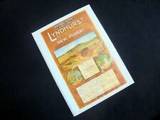 LOVELY ILLUSTRATED POSTER~REPRINT~LYNDHURST~SOUTHERN RAILWAY~SIZED A4