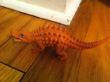 vintage Unknown Spiny molded plastic dinosaur toy Realistic color detail Rare