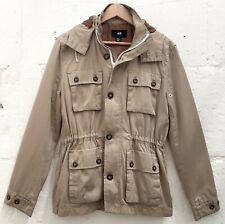 H&M - Stone Cotton Blend Parka + Detachable Hood - Large - Immaculate Condition.