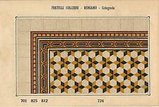 Stampa antica PAVIMENTO A MOSAICO Piastrelle Mattonelle C 724 1910 Antique print