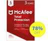 McAfee Total Protection 2018 Antivirus - 5 Devices, 3 Years (Subscription)