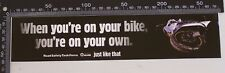 VINTAGE ROAD SAFETY TASK FORCE AUSTRALIA MOTORCYCLE ADVERTISING PROMO STICKER