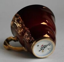 Vintage Art Deco English Carlton Ware Rouge Royale Tea Cup Set LUSTERware