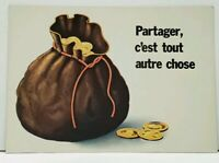 Sharing In Something Quite Different Bag of Riches Sack of Money Postcard F20