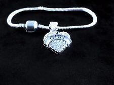 GIGI Bracelet  European style  GIGI Gift  GIGI jewelry Crystal Heart style charm