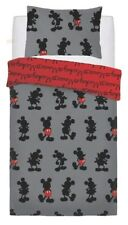 Mickey Mouse Pops Of Red' Rotary Single Bed Duvet Quilt Cover Set Brand New