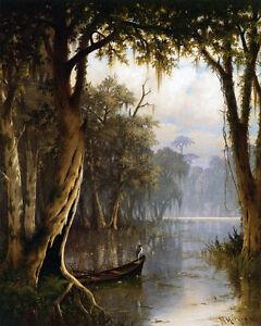 Louisiana Bayou  by Joseph Meeker  Giclee Canvas Print Repro