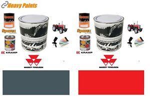 Massey Ferguson Tractor Red & Grey Paints Endurance Enamel Paint 1 Litre Tins