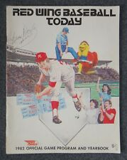 NEW YORK YANKEES BRIAN DOYLE SIGNED AUTO 1982 RED WINGS YEARBOOK PROGRAM