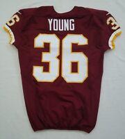 #36 Darrel Young of Washington Redskins NFL Locker Room Game Issued Jersey