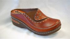 L'Artiste Chino by Spring Step Women's Camel Hand Painted Leather clog size 41