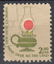 USA Briefmarke gestempelt 2c Americas Light will shine over all the Lampe / 1608
