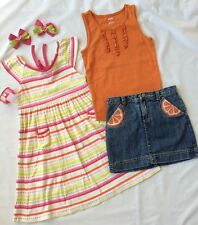 Gymboree Girls Size 6 Dress Tank Jean Skort Skirt Hair Citrus Cooler EUC 6 pc