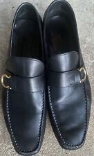Men's Ferragamo Black Loafers Size 10.5 D Shoes