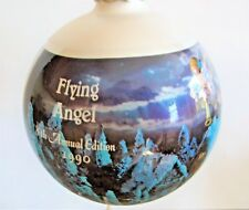 1990 M.I. Hummel Glass Christmas Ornament Flying Angel 8th Annual Edition ars