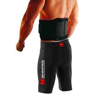Neoprene Double Pull Magnetic Lumbar Support Lower Back Belt Brace - Pain Relief
