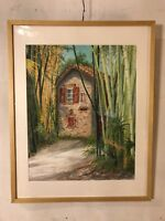 """Painting Watercolor By Emma L.Martin Bambosiery.23""""X29"""".12pix4details.MAKE OFFER"""